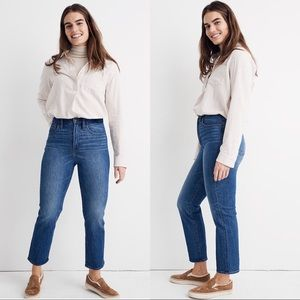 Madewell High Rise Classic Straight Leg Jeans 29